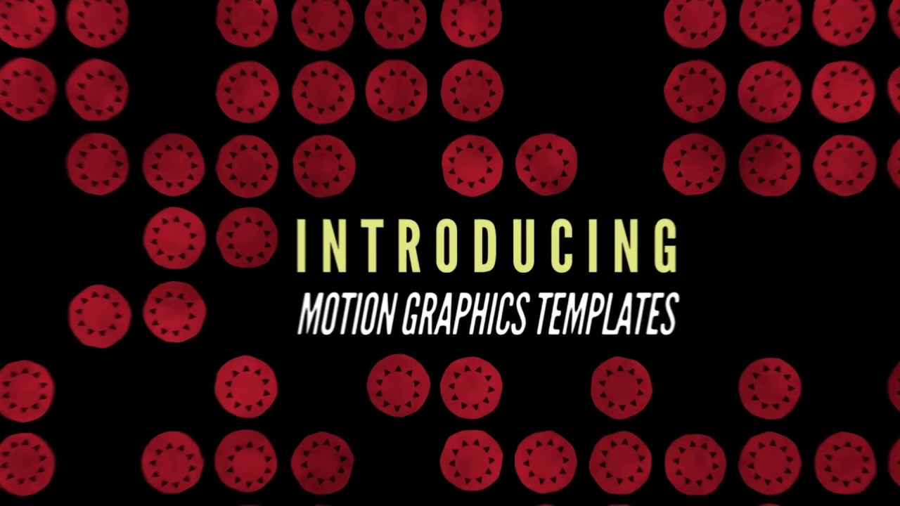What's New in Adobe Stock: Motion Graphics Templates