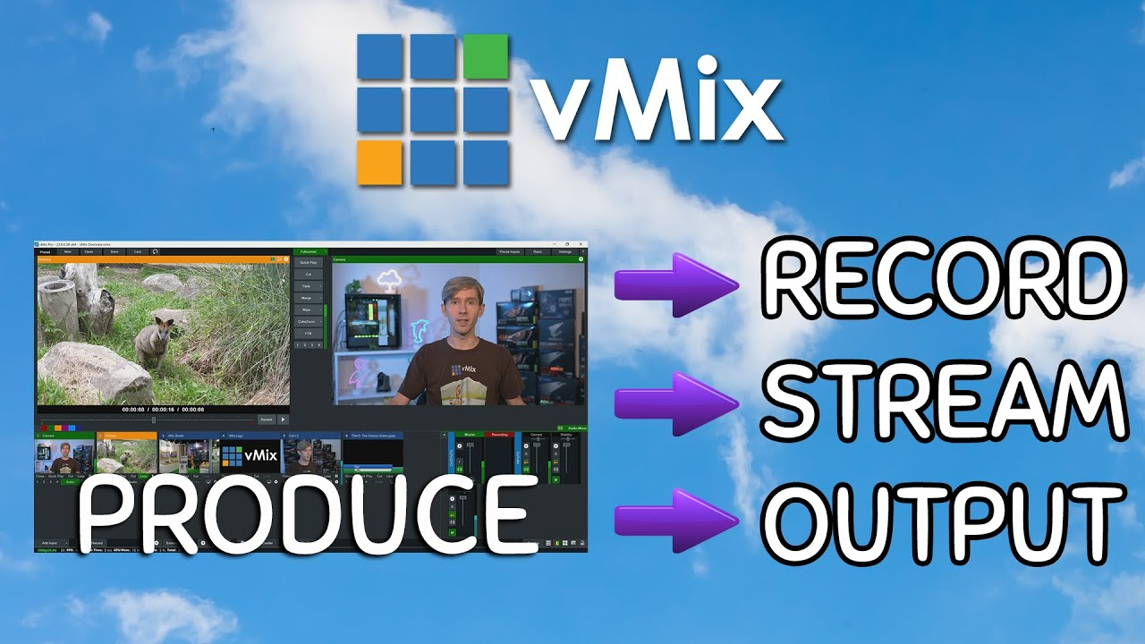Vmix Tutorial General Overview And Demo Learn About Vmix And Creating Awesome Live Productions Postproduction Tutorials Net